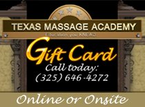 massage gift or gift card